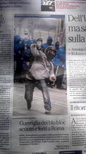Today's front page on many Italian newspapers