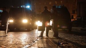 The Carabinieri on guard into the night.